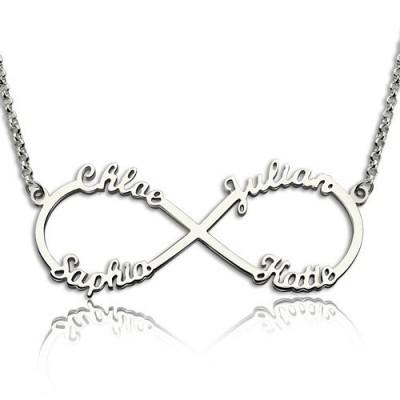 Sterling Silber Infinity Symbol Halskette 4 Namen