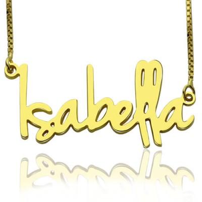 Kleine Namenskette für Frauen in 18 Karat Gold überzogen