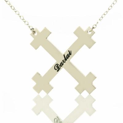 Silber Julian Kreuz Namensketten Troubadour Kreuz Schmuck