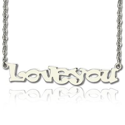 Ich liebe dich Namen Halskette aus Sterling Silber