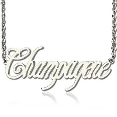 Eindeutiger Name Halskette aus Sterling Silber