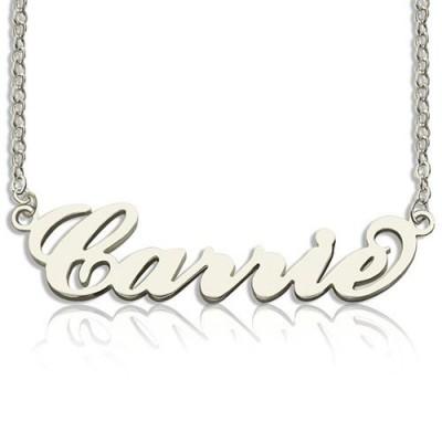Personalisierte Carrie Namenskette Sterlingsilber