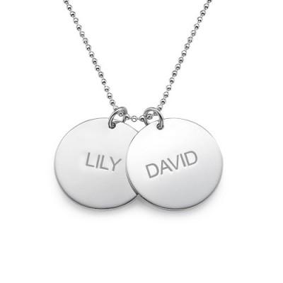 Personalisierte Multi Disc Halskette