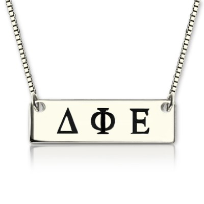 Benutzerdefinierte Alpha Gamma Delta Greek Letter Sorority Bar Halskette