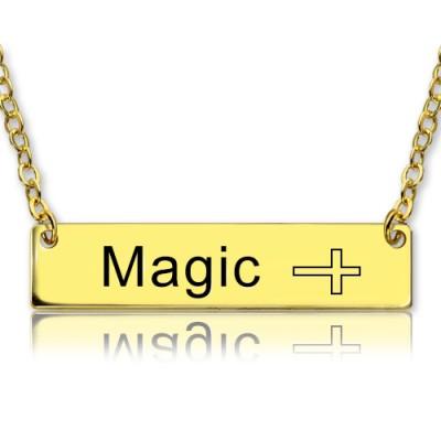 18 karätigem Gold überzogen Bar Halskette mit Icons