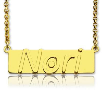 Benutzerdefinierte Nameplate Bar Halskette 18 karätigem Gold überzogen