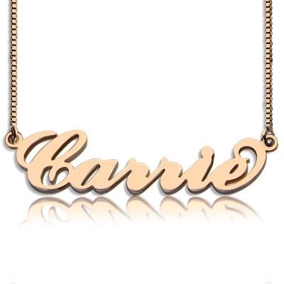 Carrie Namenskette Kette Box In 18ct Rose Gold überzogen