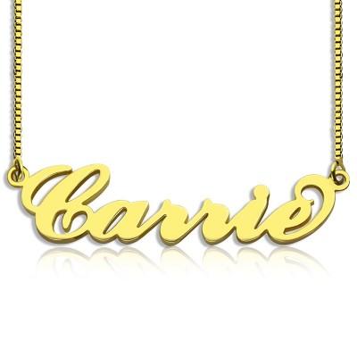 Gold überzogen Sex and The City Carrie Namenskette Kette Box
