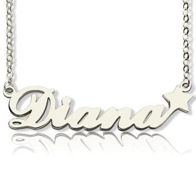 Personalisierte Brief Halskette Namenskette Sterlingsilber