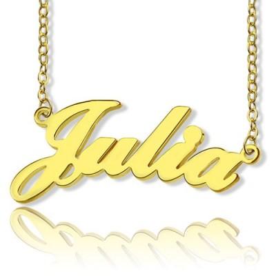 Personalisierte Klassische Namenskette in 18 karätigem Gold überzogen