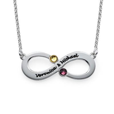 Paar Infinity Halskette mit GLÜCKSSTEIN