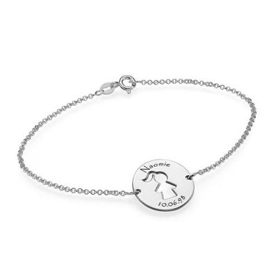 Neutraler Mum Armband / Fußkettchen in Sterling Silber