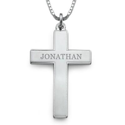 Männer Personalisierte Kreuz Halskette