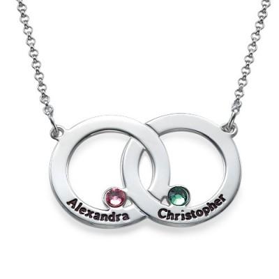 Gravierte Interlocking Kreis Halskette