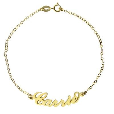 Personalisierte 18ct Gold überzogenes Carrie Namensarmband