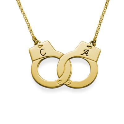 Handcuff Halskette in 18 Karat Vergoldung