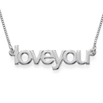 Ich liebe dich Halskette