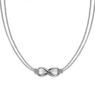 Silber Unendlichkeit Halskette