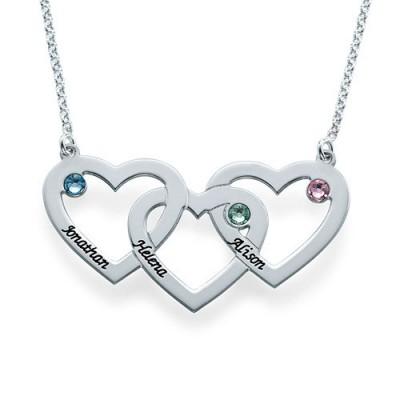 Verflochtene Herzen Halskette