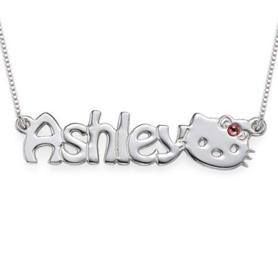 Kitten Typenschild Halskette für Mädchen