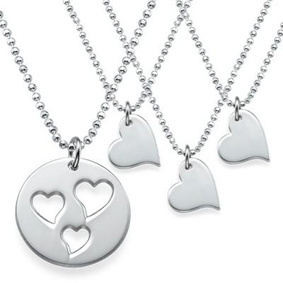 Mutter und Tochter Ausschnitte Herz Halskette Set