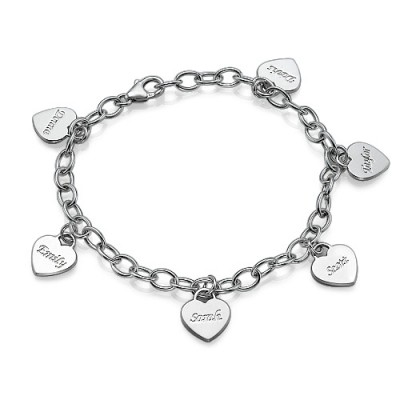 Mamma Charme Armband / Fußkettchen mit personalisiertem Herzen