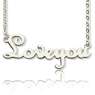 Personalisierte Sterling Silber Cursive Namenskette