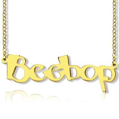 Erstellen Sie Ihre eigene Namenskette 18 karätigem Gold überzogen