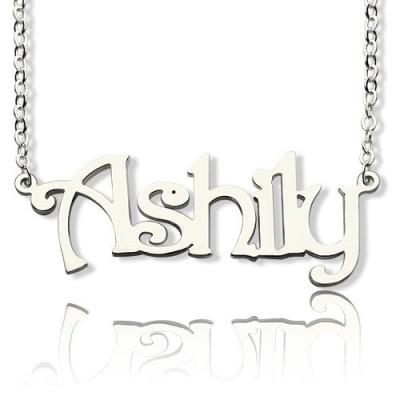 Sterling Silber Harrington Font Name Halskette