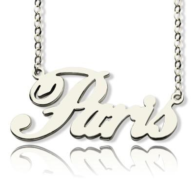 "Custom Name Halskette Sterling Silber ""Paris"""