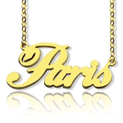 "18ct Gold Plating Namenskette ""Paris"""