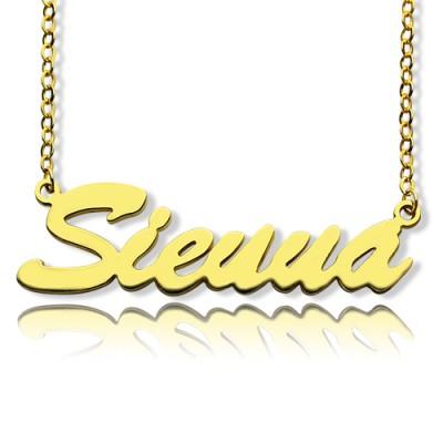 18ct Gold überzogener Sienna Art Name Halskette