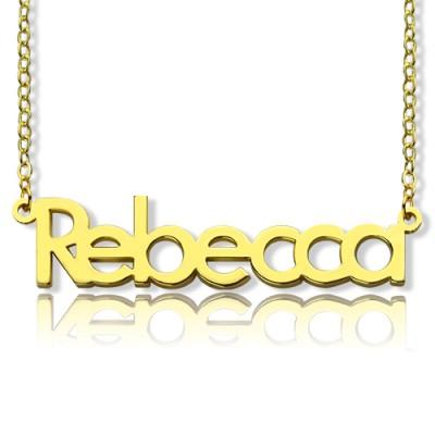"""Typenschild Halskette 18ct Gold Plating """"Rebecca"""""""