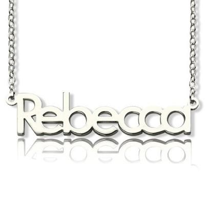 Machen Sie Ihren eigenen Namen Halskette aus Sterling Silber