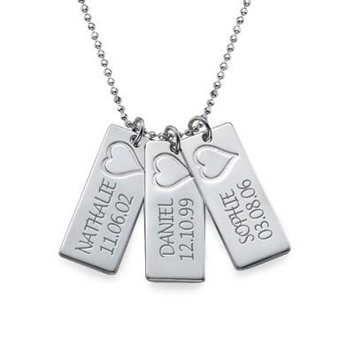 Name Bar Halskette in Silber