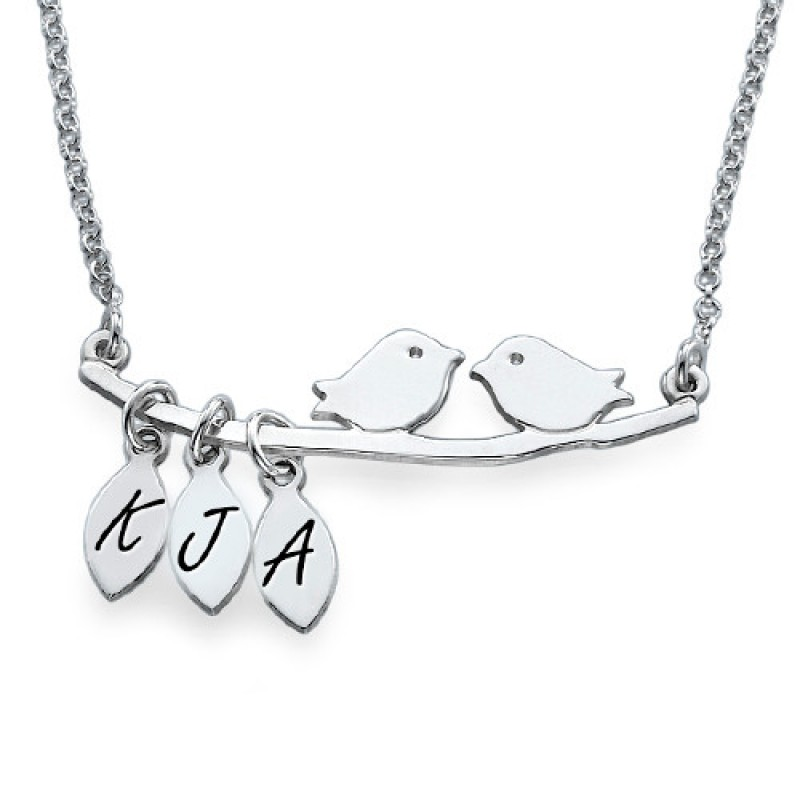 Mama Vogel Personalisierte Silber Halskette Schmuck rdBCeWxo