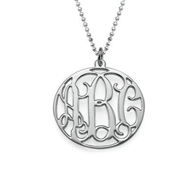 Personalisierte Kreis Initialen Halskette