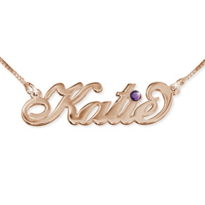 Rose Gold überzogen Silber Swarovski Halskette