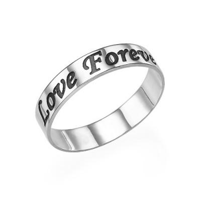 Script Sterling Silber Promise Ring