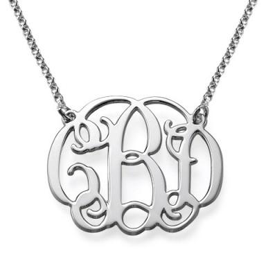 Silber Berühmtenart Monogramm Halskette