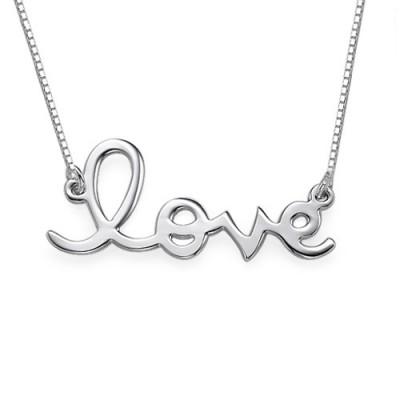 Liebe Halskette in Sterlingsilber