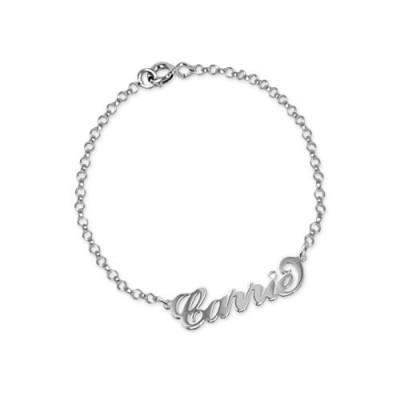 Silber und Kristall Name Armband / Fußkettchen