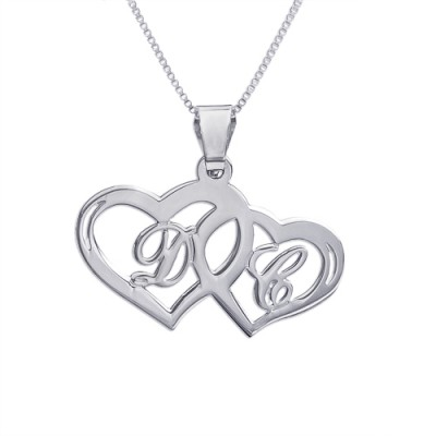 Silber Paare Herz Anhänger