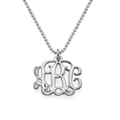 Kleine Silber Monogramm Halskette kleinere Version