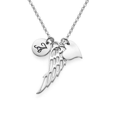 Sterlingsilber Engels Flügel Halskette