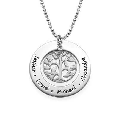 Silber Family Tree Halskette
