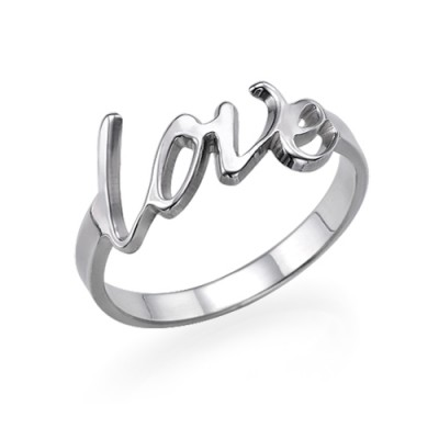 Sterling Silber Liebes Ring