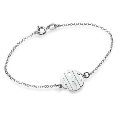 Xtra Small Block Monogramm Armband / Fußkettchen