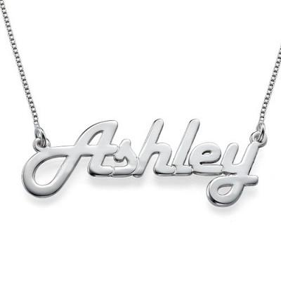 Stilvolle Silber Namenskette