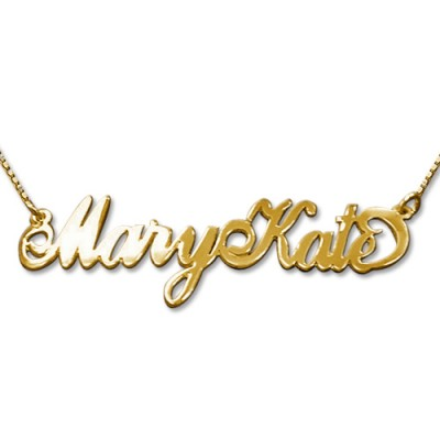 2 Großbuchstaben 18 karätigem Gold Namenskette